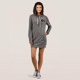 Trendy hoodie dress grey OctopusChicky