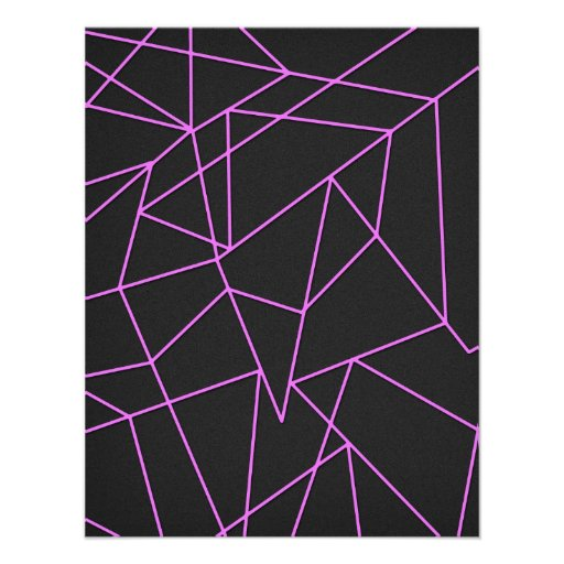 Trendy Hot Pink Abstract shattered art Custom Invite