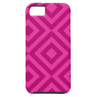 Trendy Hot Pink Diamond Pattern iPhone 5 Cases