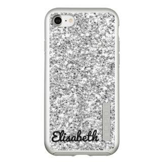 Trendy Hot silver printed glitter personalized Incipio DualPro Shine iPhone 8/7 Case