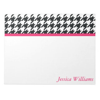 Trendy Houndstooth Notepad