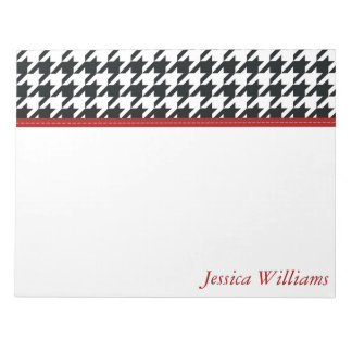 Trendy Houndstooth Notepads