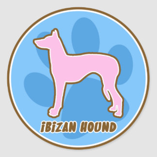 Trendy Ibizan Hound Round Sticker