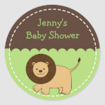 Trendy Jungle Animal Lion Stickers Envelope Seals