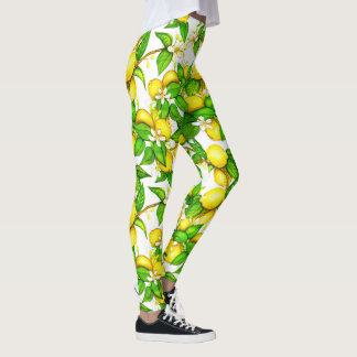 Trendy Lemon Print Leggings