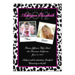 Trendy Leopard Then and Now Graduation Invitation 13 Cm X 18 Cm Invitation Card