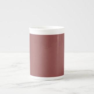 Trendy Light Brick Red Solid Color Bone China Mug