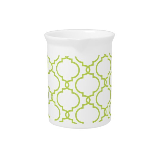 Trendy Lime Green Pattern Drink Pitchers