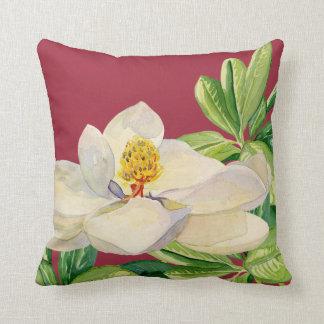 Trendy Magnolia Floral art Decorative Throw Pillow Throw Cushion