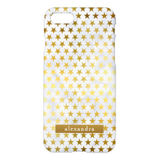 Trendy Marble and Gold Stars Pattern iPhone 8/7 Case