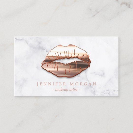Trendy marble rose gold 3d lips makeup artist business card zazzle trendy marble rose gold 3d lips makeup artist business card reheart Images