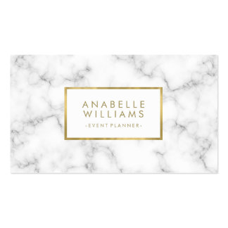 Trendy Marble Texture Faux Gold Foil Pack Of Standard Business Cards