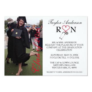 Trendy Medical RN School Graduation Announcement