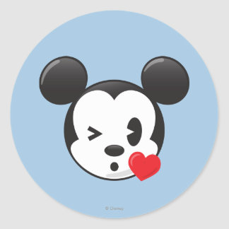 Trendy Mickey | Flirty Emoji Classic Round Sticker
