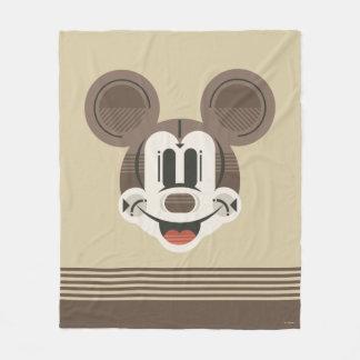 Trendy Mickey | Stylized Stripes Retro Head Fleece Blanket