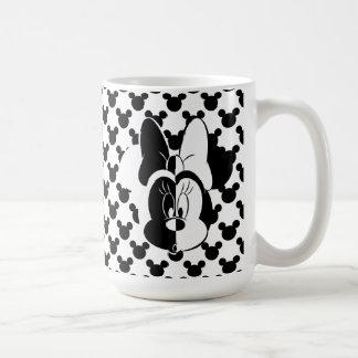 Trendy Minnie | Black & White Modern Coffee Mug