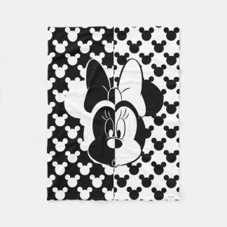 Trendy Minnie | Black & White Modern Fleece Blanket