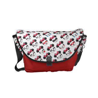 Trendy Minnie | Emoji Pattern Messenger Bag