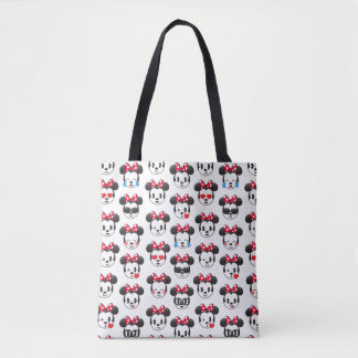Trendy Minnie | Emoji Pattern Tote Bag