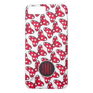 Trendy Minnie | Polka Dot Bow Monogram iPhone 7 Plus Case
