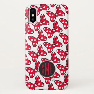 Trendy Minnie   Polka Dot Bow Monogram iPhone X Case