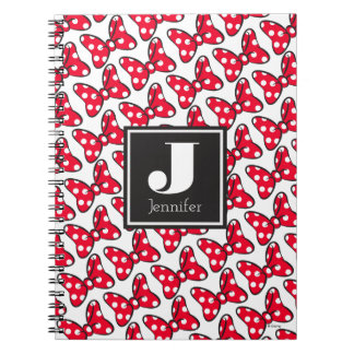 Trendy Minnie | Polka Dot Bow Monogram Notebook