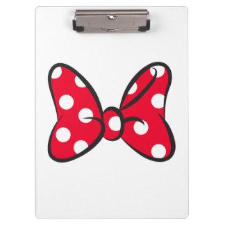 Trendy Minnie   Red Polka Dot Bow Clipboard