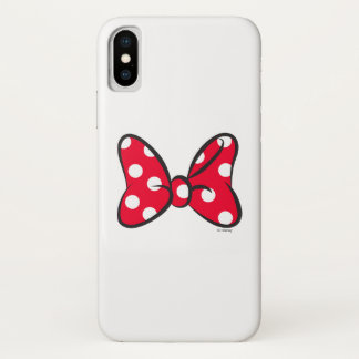 Trendy Minnie | Red Polka Dot Bow iPhone X Case