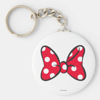 Trendy Minnie | Red Polka Dot Bow Key Ring