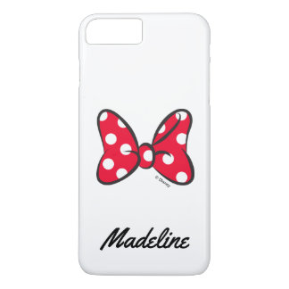 Trendy Minnie | Red Polka Dot Bow | Your Name iPhone 7 Plus Case