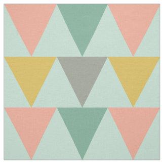Trendy Mint Geometric Triangle Pattern Fabric
