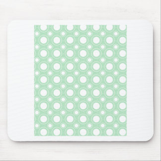 Trendy Mint Green Polka Dots Mouse Pad
