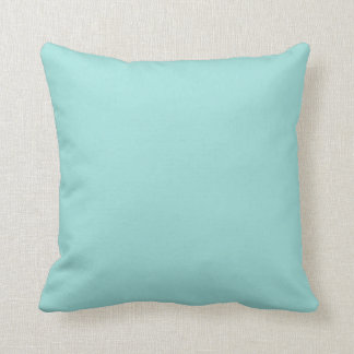 Trendy Mint Green Solid Color Toss Pillow Cushion
