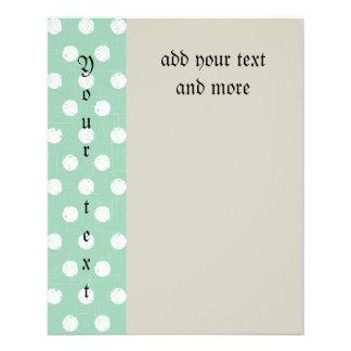 Trendy,mint polka dot,pattern,girly,modern,vintage 11.5 cm x 14 cm flyer