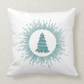 Trendy modern abstract Christmas tree Pillows