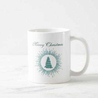Trendy modern abstract Christmas tree Coffee Mug