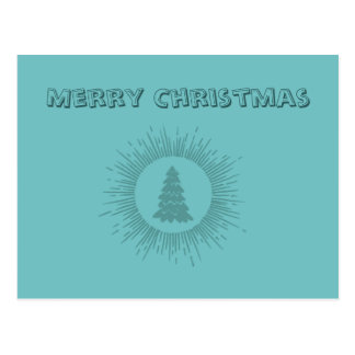 Trendy modern abstract Christmas tree Post Cards