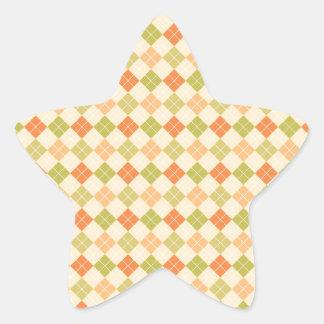 Trendy Modern Argyle Sticker