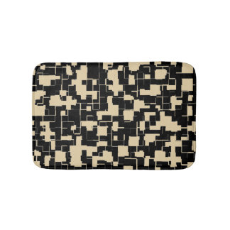 Trendy Modern Pattern - Black/Tan(Changeable) Bath Mat
