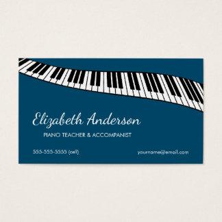 Trendy & Modern, Piano Teacher & Accompanist Business Card