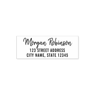 Trendy Modern Script Name Return Address Self-inking Stamp