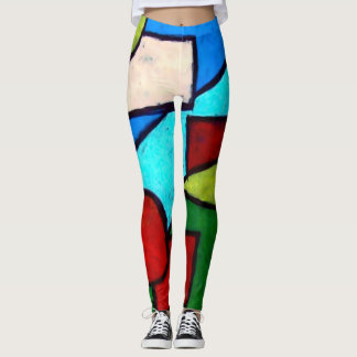 Trendy Modern Shapes Abstract Leggings