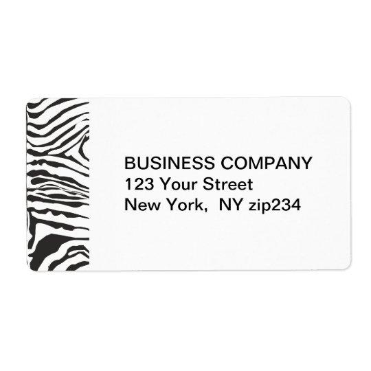 Trendy Modern  Zebra Black White Pattern Shipping Label
