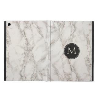 Trendy Monogram Initial Printed Marble iPad Air Cases