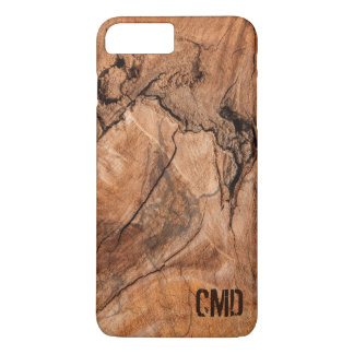 Trendy Monogrammed Nature Hardwood iPhone 8 Plus/7 Plus Case