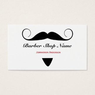 Trendy Moustache Barber Shop Hair Stylist For Men Business Card