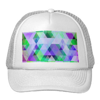 Trendy multi color chic girly elegant hipster fun trucker hat