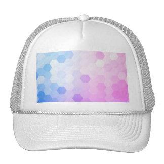 Trendy multi color cubes chic modern pattern fun mesh hat