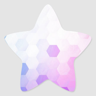 Trendy multi color cubes chic modern pattern fun star stickers