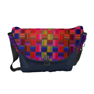 Trendy Multicolored Mosaic Tile Pattern Commuter Bags